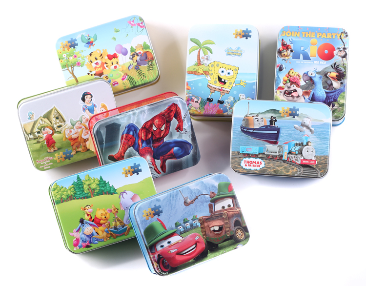 24 tin wooden jigsaw puzzle baby and young children early childhood educational toys wooden aged 2-3-6 prize gift items