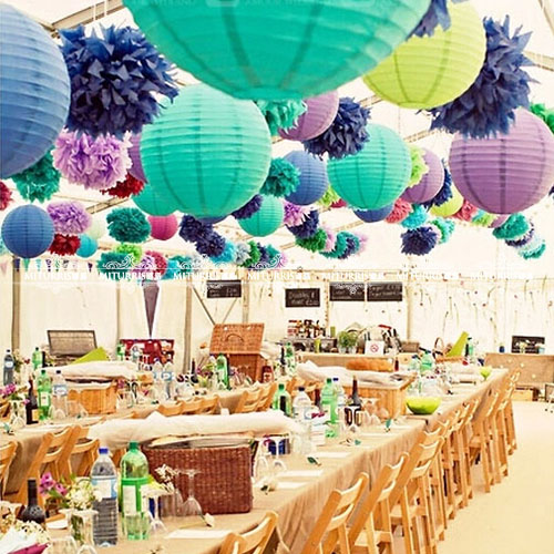 25cm wedding supplies wedding paper lanterns hanging paper lamp shade lampshade outdoor birthday party decoration marriage room layout