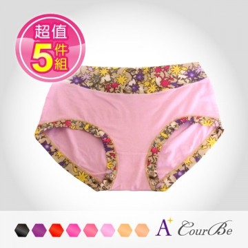 [A +] bamboo fiber seamless underwear japanese printing courbe (value 5 groups)