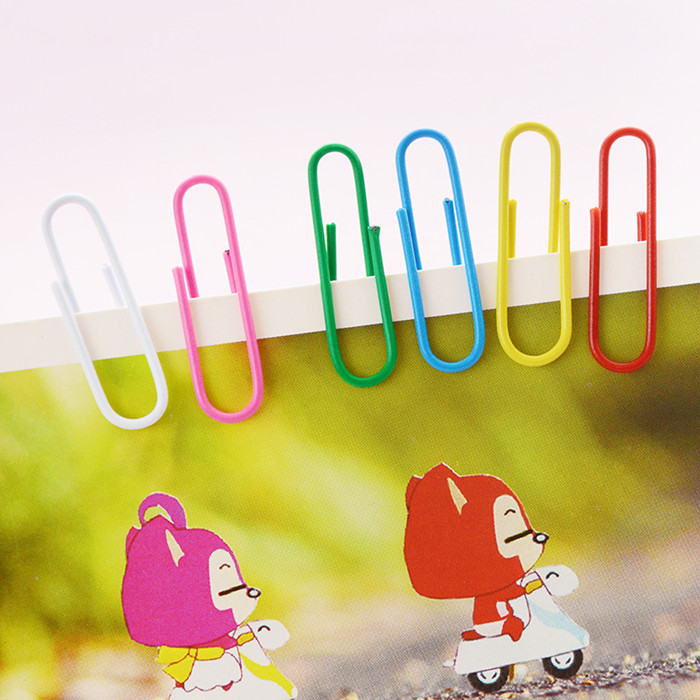 29.9 yuan shipping dawn stationery office paperclip colored paper clips paperclip 100/box 91699
