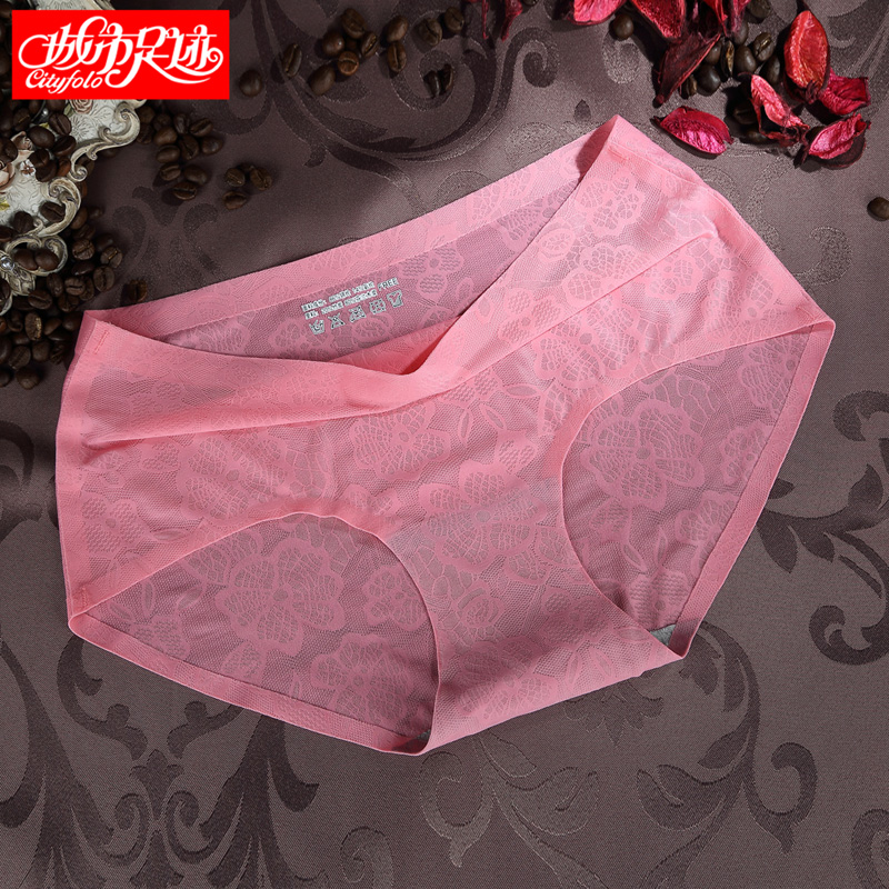 [3] installed a seamless ice silk underwear waist bottoming female summer underwear waist underwear