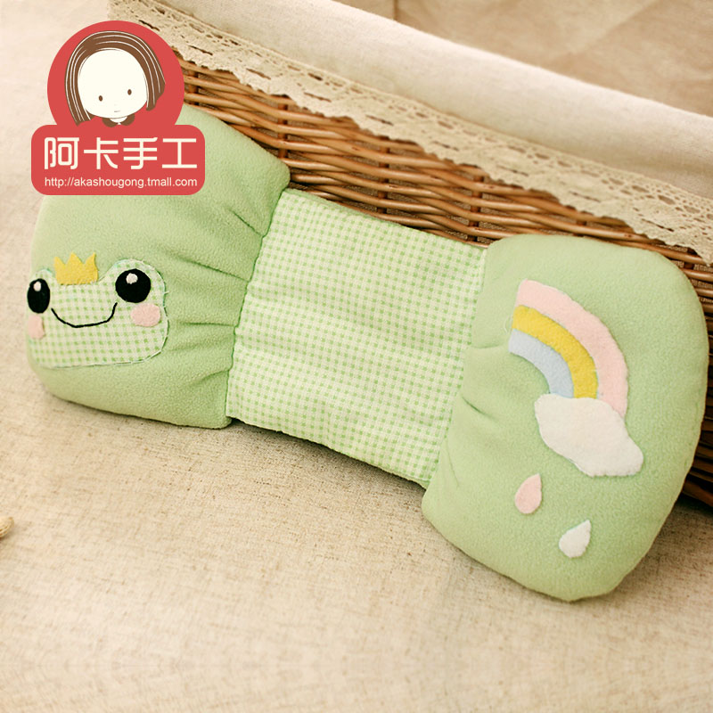 3 years old little frog children pillow baby pillow shape 0 spring and summer newborn baby supplies baby pillow