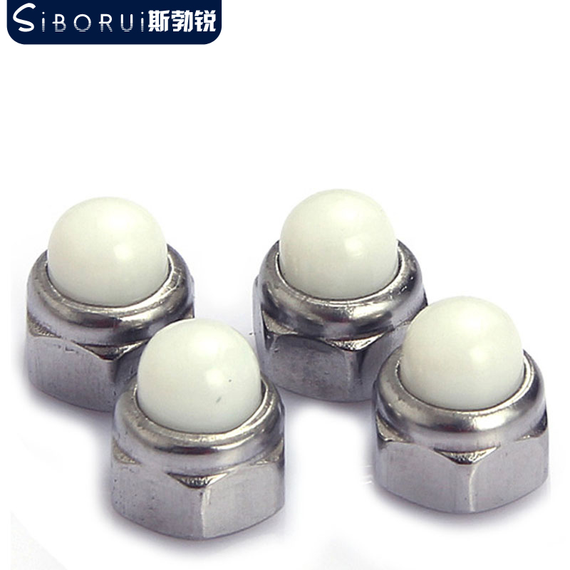 304 stainless steel nylon ball DIN986 metallic insert locking cap nuts cap nut decorative cap to hide the ugly