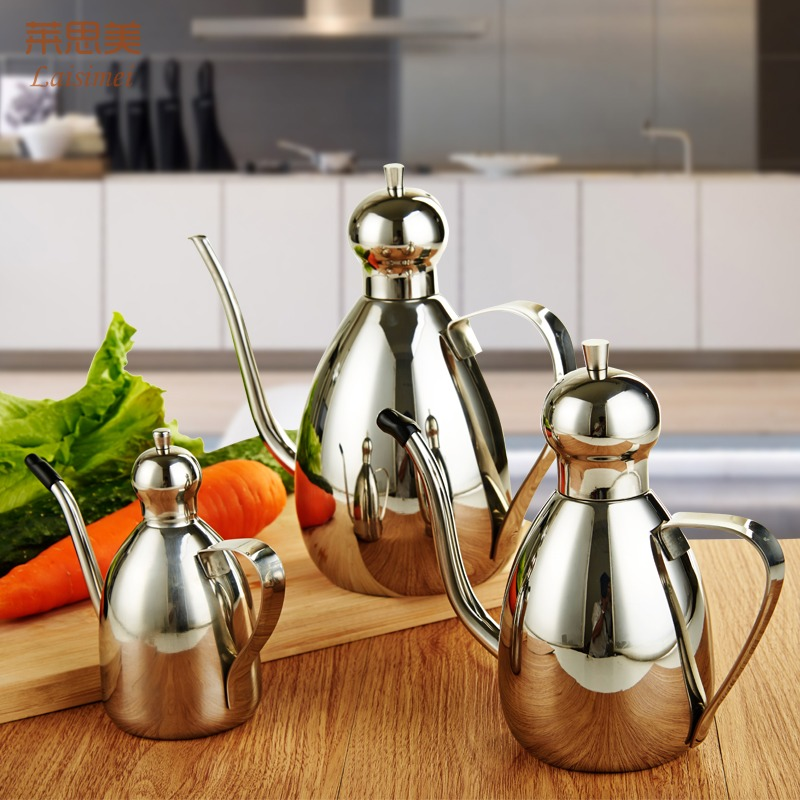 304 stainless steel oiler oil spill prevention control oil edible oil bottle oil bottles of vinegar sauce condiment bottles kitchen supplies