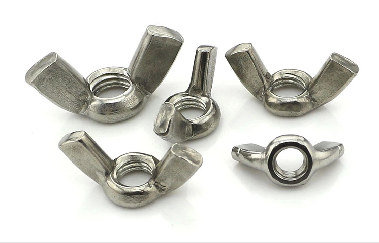 304 stainless steel wing nut/butterfly nut croissants nut/nut m3-m12