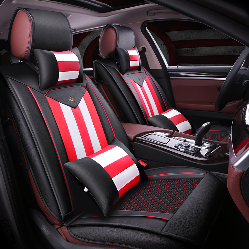 3d full surround the new car seat cover all inclusive four seasons general special pu leather seat cushion summer ice silk seat covers