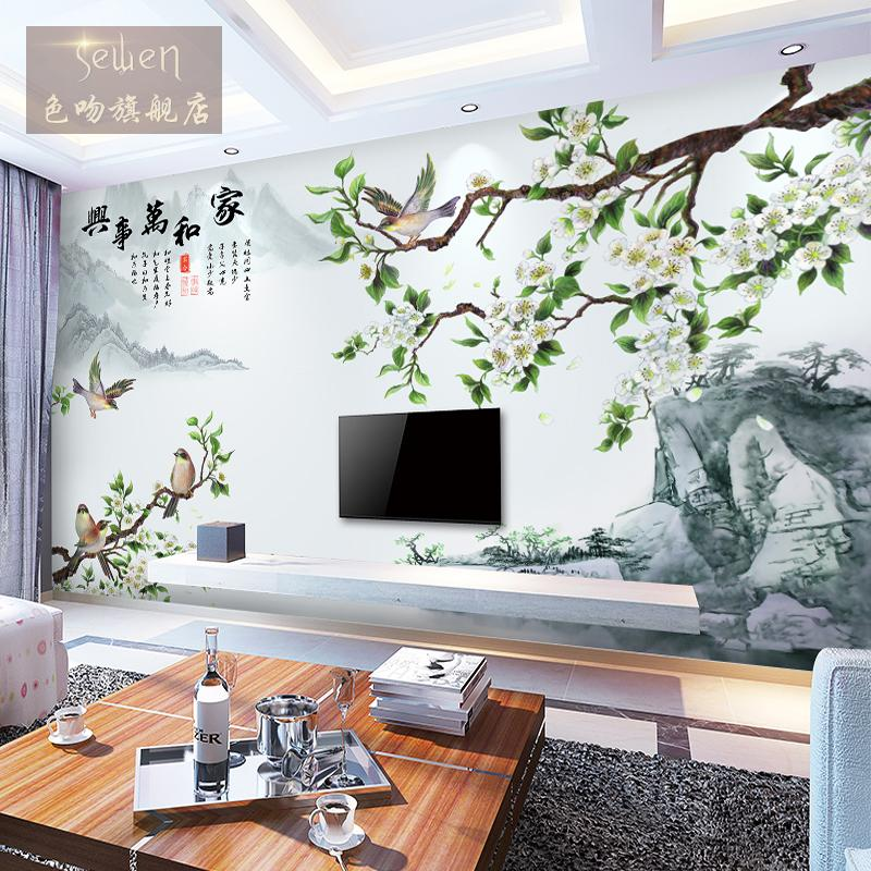 3d stereoscopic tv backdrop mural wallpaper living room bedroom sofa tv den chinese seamless wall covering