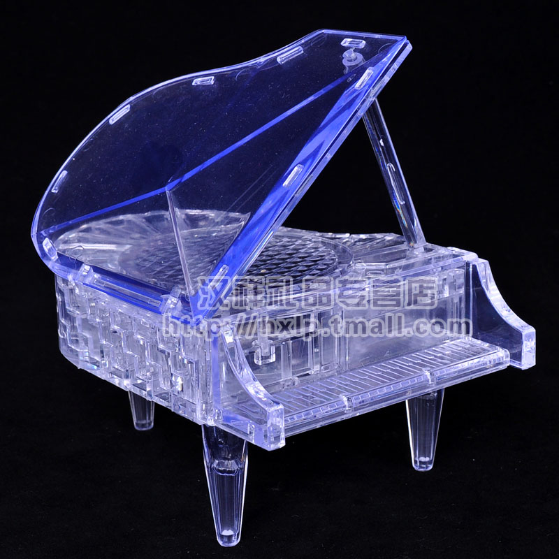 3d three-dimensional crystal puzzle assembled model led flash music piano educational toys for children adult handmade diy