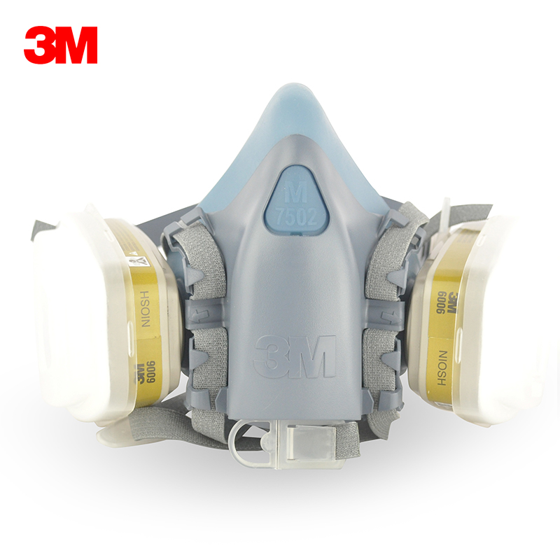 3m 7502 6006 seven sets of full silicone mask respirator masks comfort