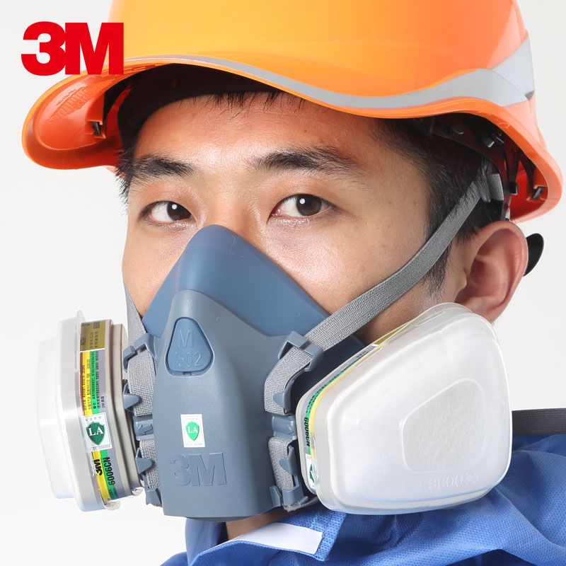 3m7502 silicone half mask comfort with 6006 cartridges anti hydride hydrogen fluoride pesticide factory test