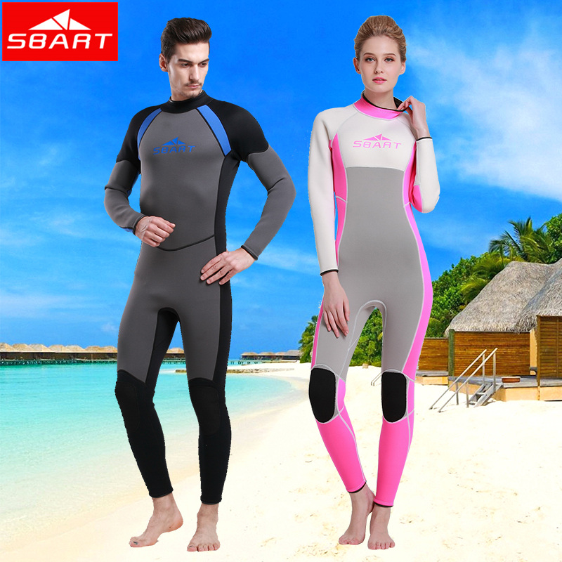 3mm winter clothes long sleeve surf clothing snorkeling jellyfish clothing surfing wetsuit winter swimming swimsuit couple warm piece swimsuit
