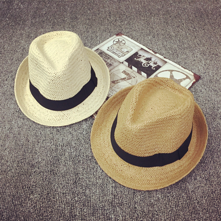 4-8 years old korean boys and girls summer breathable children's summer straw hat straw sun hat straw hat paternity