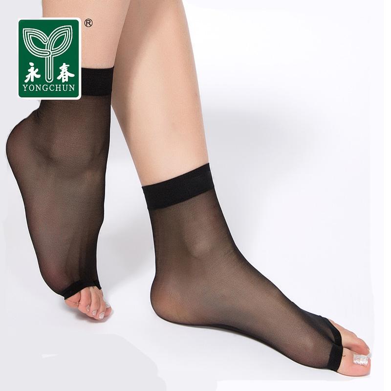 9480c2e37 Get Quotations · 40 pairs free shipping yongchun stockings thin sandals  fish head stockings toe socks toe socks short