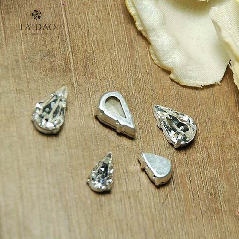 4328 + base teardrop shaped diamond drill sew flash diamond crystal rhinestone string beads diy handmade jewelry materials