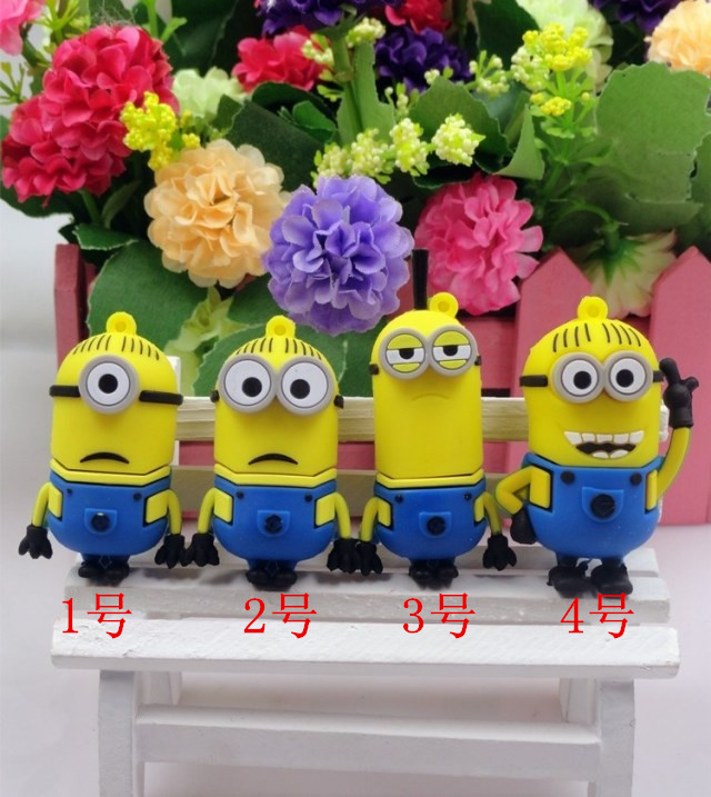 4g u disk creative personality small yellow people despicable me daddy creative cute cartoon 4g u disk u disk 4g usb