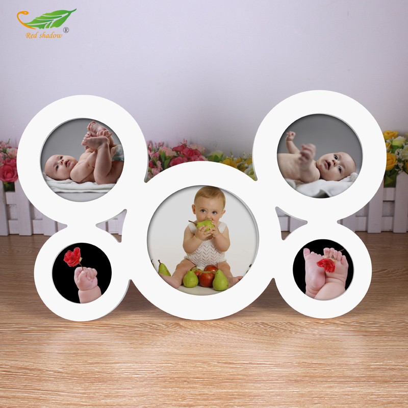 5 box combination siamese woodiness heterosexual creative arts modern minimalist photo frame baby photo frame swing sets for children