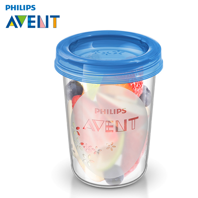 [5 free postage] philips avent via breast milk storage cups milk storage cups/reservoir bottle 240 ml * 1