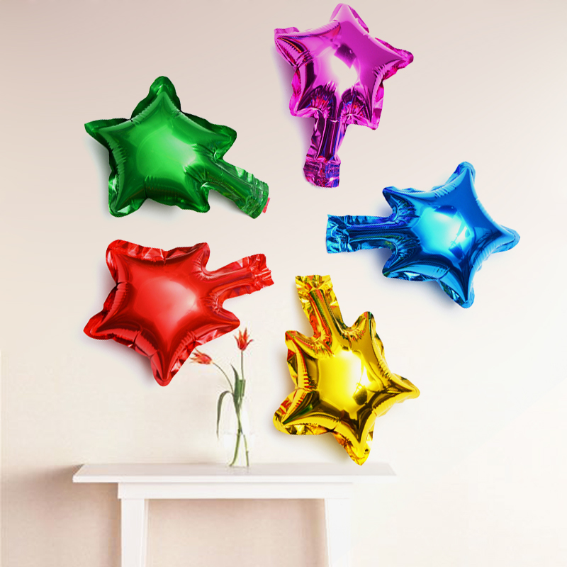 5 inch trumpet wedding wedding love pentagram aluminum balloons birthday party decoration heart shaped aluminum foil gas ball