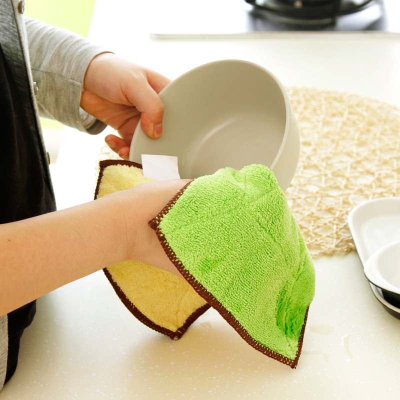 5 installed sided microfiber absorbent cloth lint thick nonstick oil clean kitchen towel wash cloth
