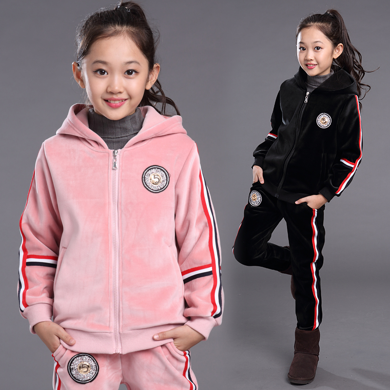5 kids girls autumn 2016 new big virgin piece suit tide 8 children 10 girls 11 shipped move 15 years of age