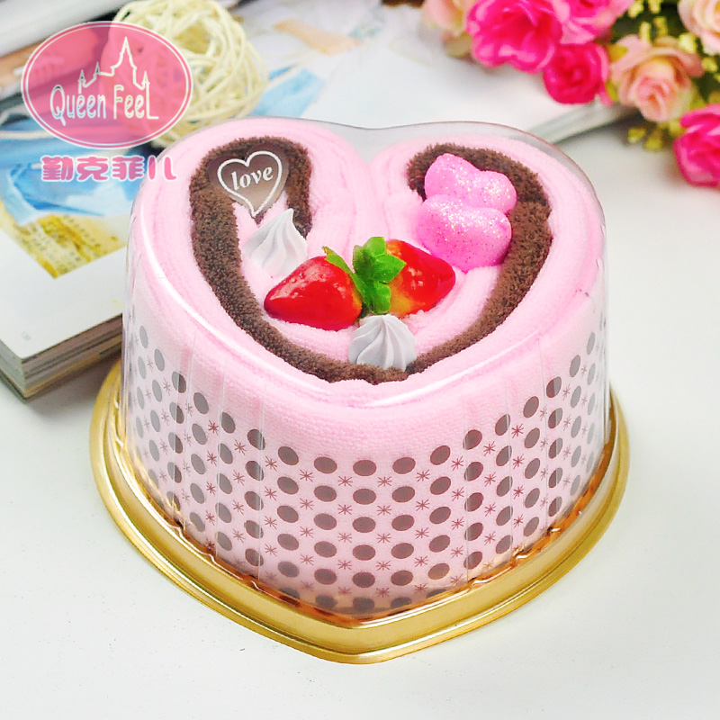 5 large heart shape cake towel gift wedding favor staff autumn autumn festival teacher's day gift ideas and practical
