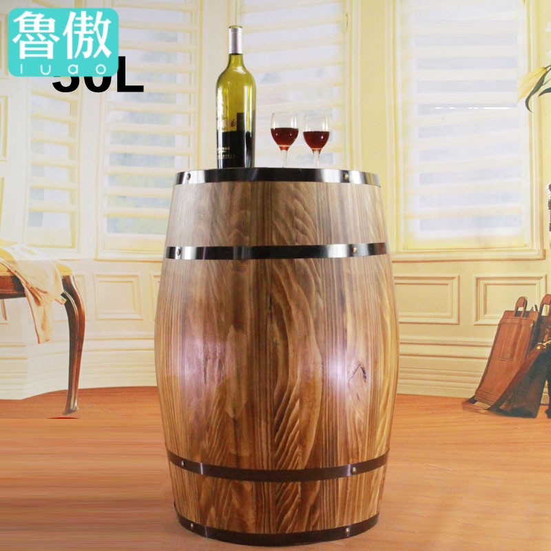 50l oak barrels decorative wooden props wooden kegs vertical wooden oak barrels oak wine barrels