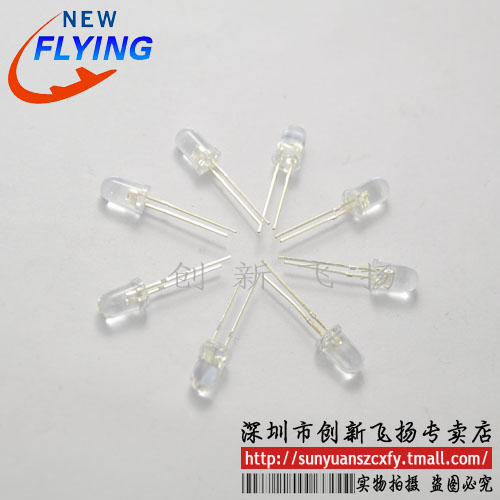 5mm led bright red red light emitting diode red hair short legs sunyuan module agent 200