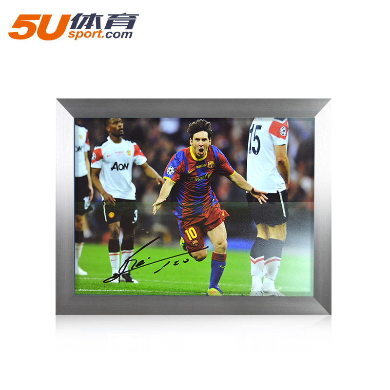 31791d64f0f Get Quotations · 5u sports icons greater china region agent 11 champions  league final messi messi poster autographed photo