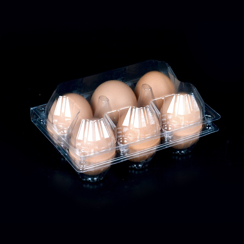6 pieces of courier transparent egg tray egg cartons egg tray duck egg box box box plastic tray plastic box packaging 1000