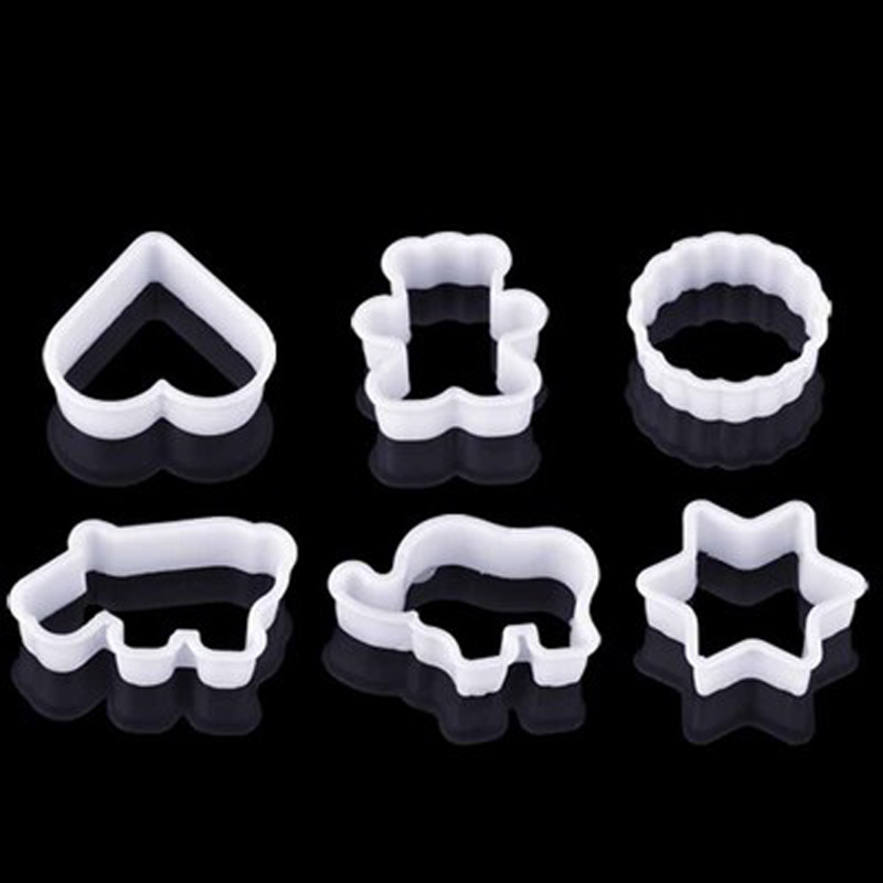 6 sets of plastic biscuit baking mold mold cookie mold pineapple cake mousse ring mold cartoon