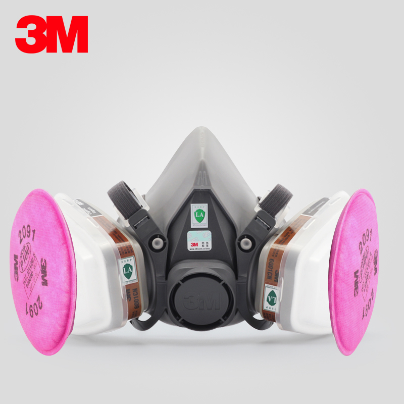 6200 + 6001 + 502 + 2091 m respirators qi jiantao chemical spray and dust fire protection