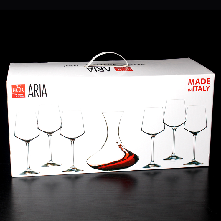 7 gift gift set! italy rcr imported crystal wine goblet glass of red wine decanters