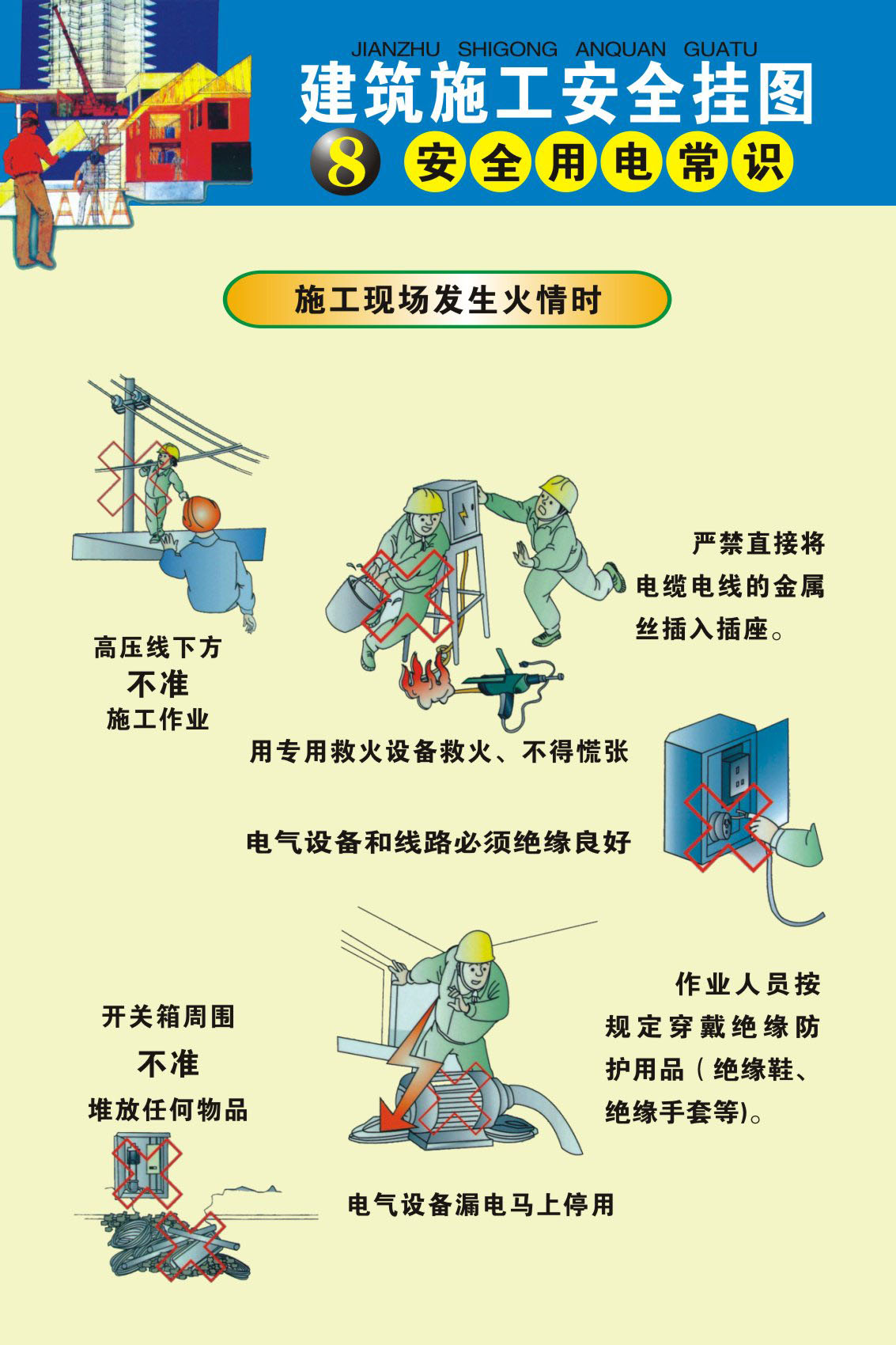 722 poster panels inkjet printed 283 construction site construction safety wall charts 4 electrical safety knowledge