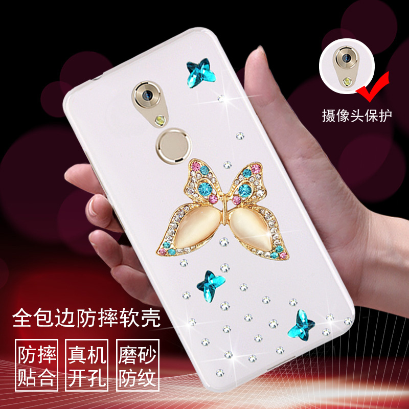 7mini 7mini mobile phone sets zte secret secret phone shell protective sleeve popular brands of soft silicone sleeve rhinestone