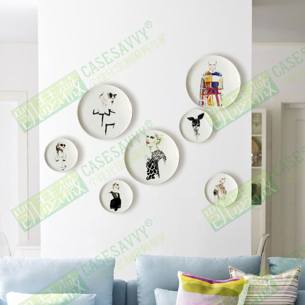 8 inch ant ónio soares fashion style hand painted porcelain decorative plate hanging plate ceramic dish plate wobble wall