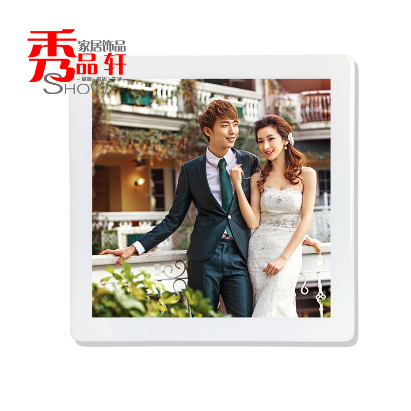 8 inch square wall swing sets wedding photo frame crystal frame custom paint korean creative wedding photo frame