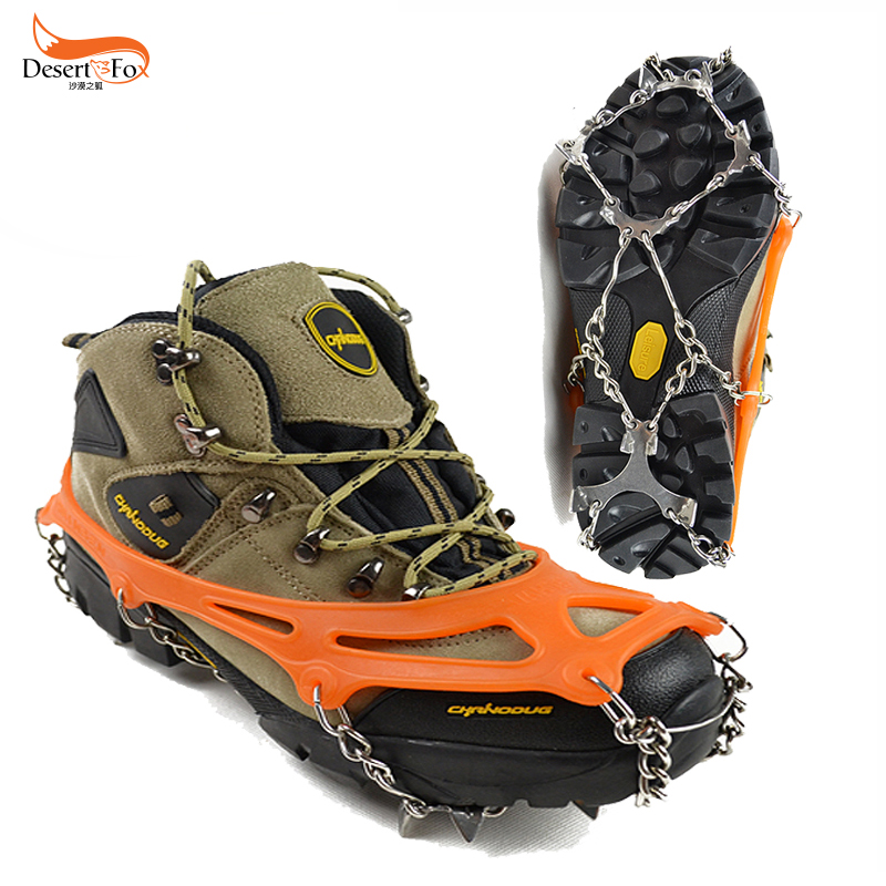 8 teeth slip shoe crampons outdoor snow ice climbing equipment simple claw grip snow 8 tooth steel