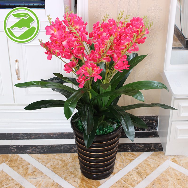 85CM artificial flowers suit the living room furnishings decorative artificial flowers freesia plastic plants simulation plants bonsai landing