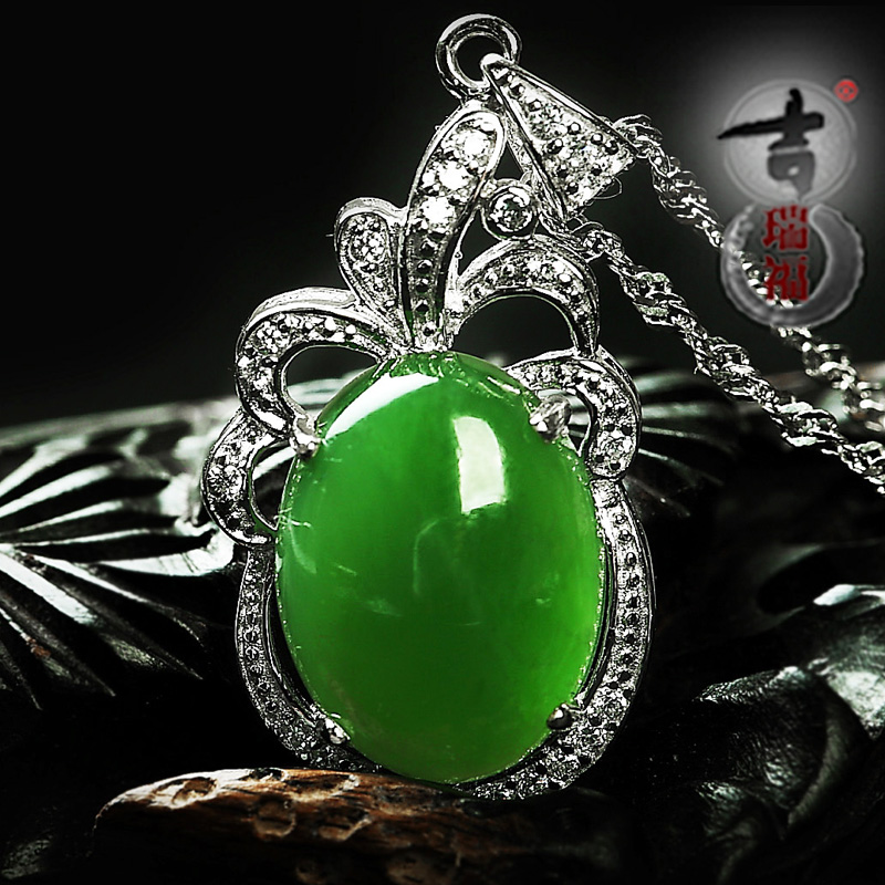 925 silver inlaid jade and nephrite jade pendant drops egg noodles jade necklaces rings earrings female jewelry natural jade