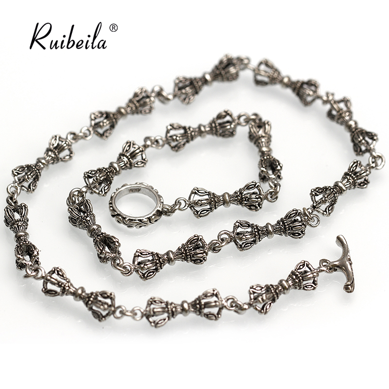 925 silver necklace vajra buddhist ruibeila 18-26 inch male personality retro punk wave of thai silver chain