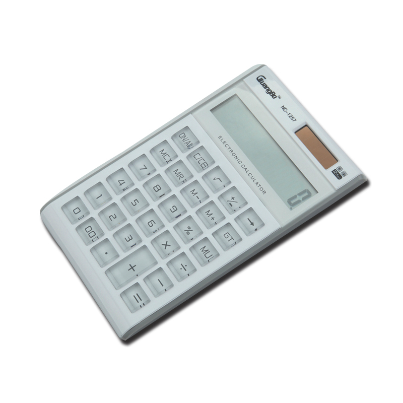 A broad range of function calculator 12 digit solar calculator student test with a large screen computer science NC-1257