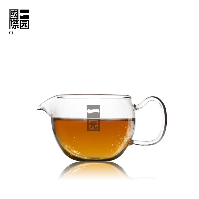A garden international no. 4 of thick glass resistant glass tea cup male sea glass fair cup of tea sea tea tea with zero