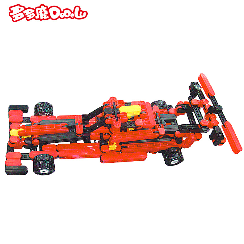 A lot of deer children's building blocks assembled plastic building blocks baby educational toys transformers fight inserted large particles