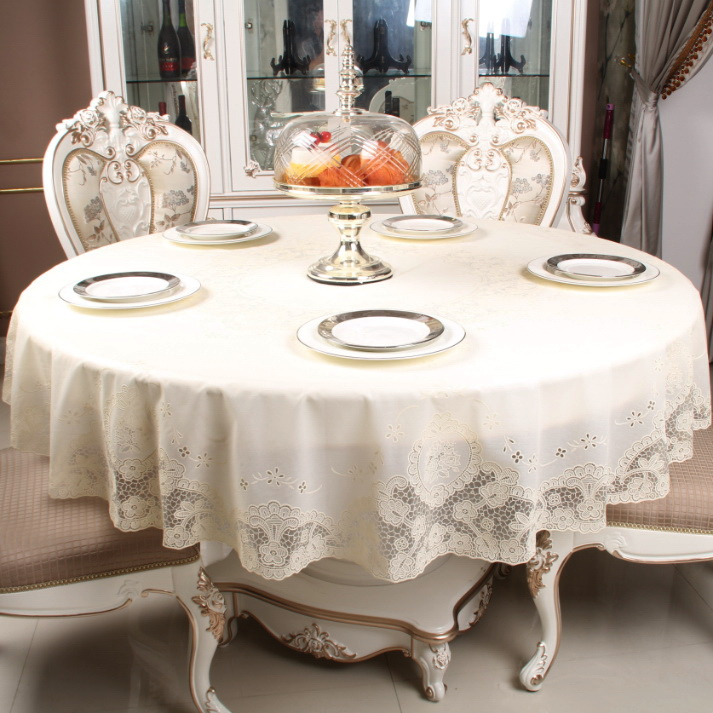 A lot of home european round tablecloth pvc waterproof disposable tablecloth round 180cm silver gilt printing round tablecloth table cloth