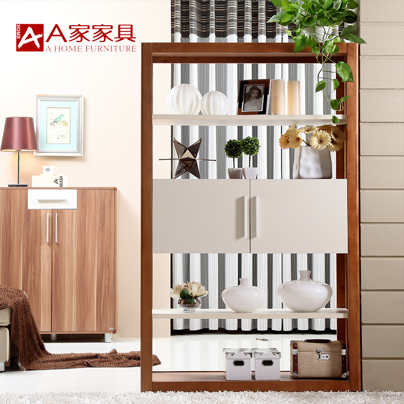 A modern minimalist furniture white wood cabinet entrance foyer off the entrance cabinet wine cabinet sideboard storage