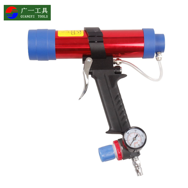 A wide tool with speed pneumatic glass glue gun/pneumatic glue gun/caulking gun/glass bottle