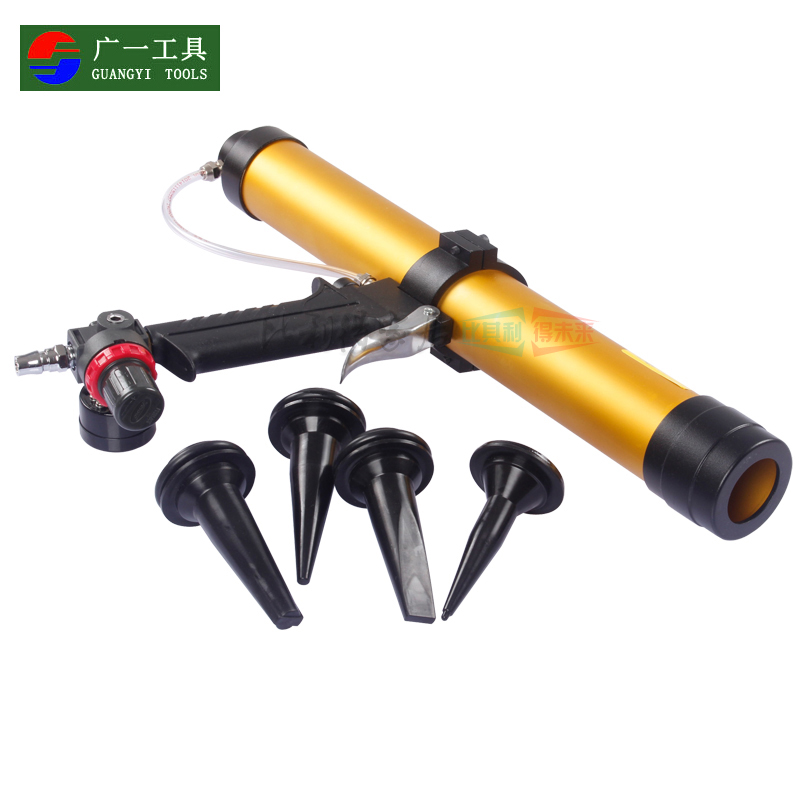 A wide with speed pneumatic glue gun 310 ml/ml glass glue gun pneumatic caulking gun soft loading