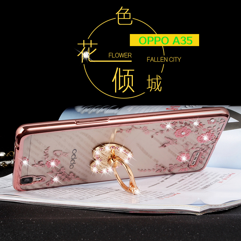 A35 oppoA35 bracket oppo phone shell female diamond protective sleeve a35t/m slim drop resistance silicone soft shell