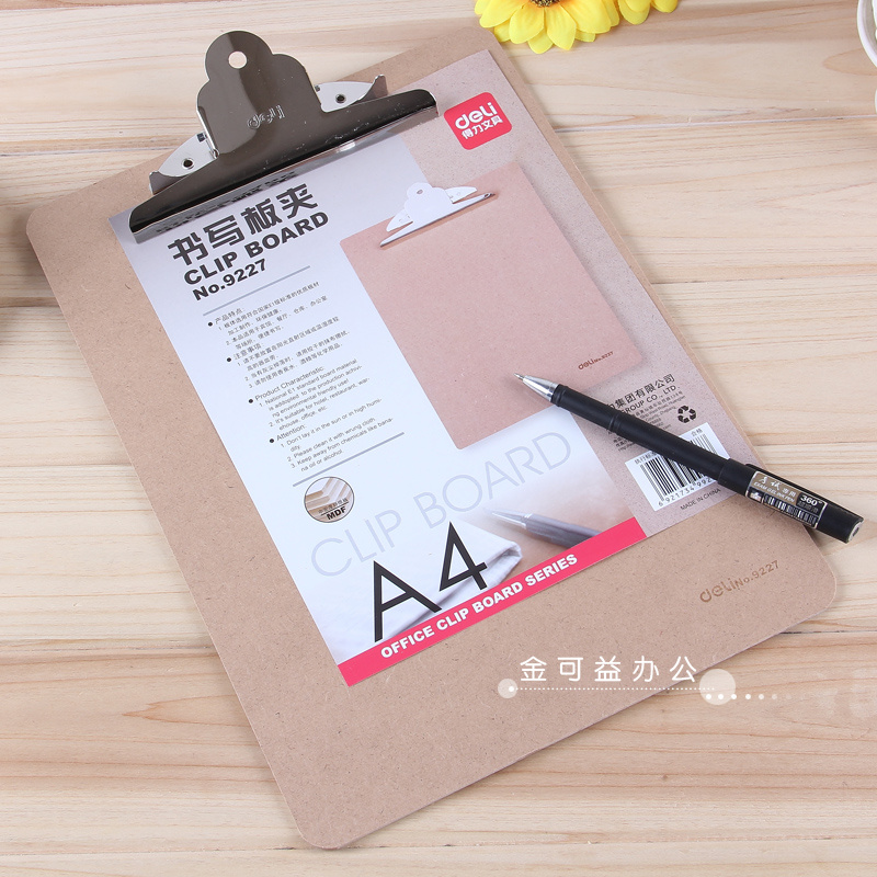 A4 a5 writing pad folder deli wooden board clip board folder menu folder folder deli office supplies