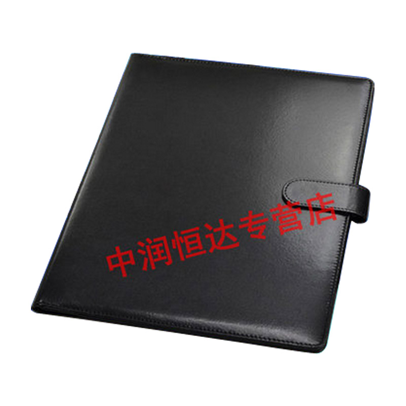A4 multifunction leather folder leather folder conference folder manager folder contract signing clip clip free shipping